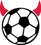 Devil soccer ball Stock Photography