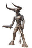 Devil Statue made from metal Royalty Free Stock Photo