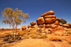 Devil stones - Karlu Karlu, Central Australia Royalty Free Stock Images