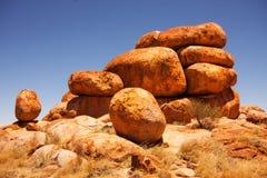 Devil stones - Karlu Karlu, Central Australia Stock Photos