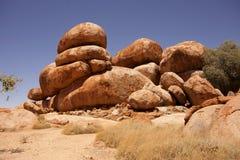 Devil stones - Karlu Karlu, Central Australia Royalty Free Stock Image