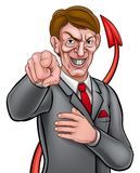 Devil Tail Business Man Royalty Free Stock Photo