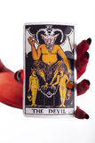 The devil tarot card. Stock Images