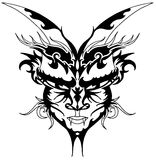 Devil tattoo. Image representing a face of devil, usable as tattoo, but also to decorated shirt Royalty Free Stock Photo