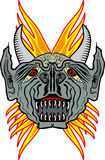 Devil tattoo style. Figure of adevil in tattoo style Royalty Free Illustration