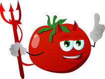 Devil tomato with attitude Stock Image