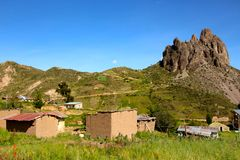 Devil tooth mountain around La Paz Stock Photography