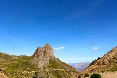 Devil tooth mountain La Paz Stock Photo