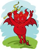 Devil with a trident. Stock Images
