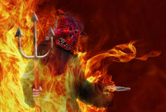 Devil with a trident Royalty Free Stock Photography