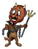 Devil and trident Royalty Free Stock Photo