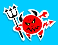 Devil with trident Royalty Free Stock Images