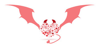 The Devil Valentine's day Royalty Free Stock Images
