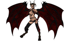 Devil woman Royalty Free Stock Photos
