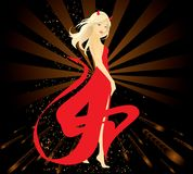 Devil woman. Pretty blond woman dressed in Devil costume Vector Illustration