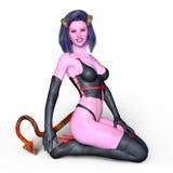 Devil woman. 3D CG rendering of a devil woman Royalty Free Stock Photo
