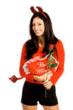 Devil Woman Valentine royalty free stock photo