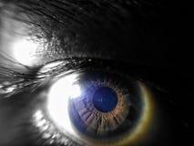 Devil& x27; глаза s Стоковое фото RF