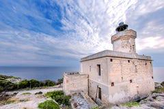 Devil& x27; маяк пункта s: Острова Tremiti, Адриатическое море, Италия Стоковые Фотографии RF