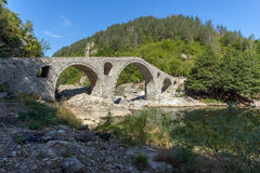 The Devil& x27;s Bridge over Arda river and Rhodopes mountain,  Bulgaria Royalty Free Stock Images