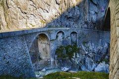 Devil's bridge at St. Gotthard pass Royalty Free Stock Photos