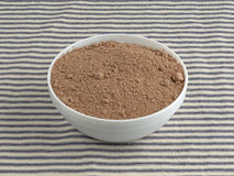 Devil's food cake mix in a bowl Royalty Free Stock Image