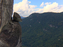 Devil's Head formation, Chimney Rock State Park, North Carolina Stock Images