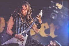 Devildriver,麦克Spreitzer生活音乐会Hellfest 2017年 免版税图库摄影