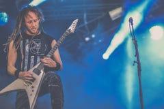 Devildriver, тяжелый метал 2017 в реальном маштабе времени концерта Майк Spreitzer Стоковые Фотографии RF