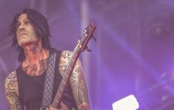 DevilDriver, Diego Ibarra живет в концерте 2017, тяжелый метал Стоковое фото RF