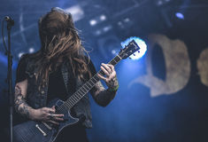 DevilDriver,Neal Tiemann live in concert 2017, heavy metal Stock Images