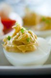 Deviled egg appetizer Stock Photography