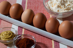 Deviled Egg Ingredients Stock Photo