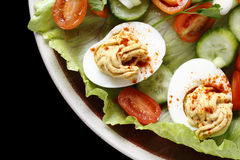 Deviled egg salad closeup Stock Image