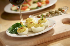 Deviled Eggs And Appetizers Royalty Free Stock Images