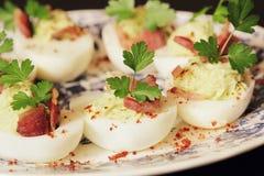 Deviled eggs appetizer Stock Image