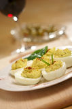 Deviled Eggs and Appetizers royalty free stock photos