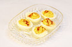 Deviled Eggs in Dish Royalty Free Stock Photography