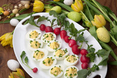 Deviled Eggs for Easter Stock Image