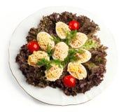 Deviled eggs salad Stock Photo