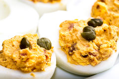 Deviled Eggs with Tuna Royalty Free Stock Photo