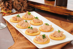 Deviled ham canapes Stock Image