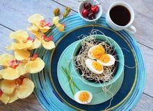 Deviled jajek kwiatów wiśnie kawowe Zdjęcia Royalty Free