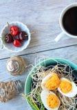 Deviled jajek kwiatów wiśnie kawowe Obrazy Stock