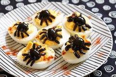 Deviled jajka dla Halloween Zdjęcia Stock