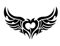 Devilish heart tattoo Stock Images