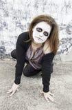 Devilish woman crazy Stock Images