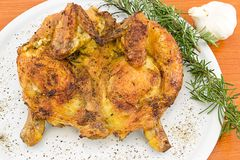 Devilled chicken with herbs Royalty Free Stock Images