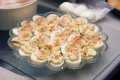 Devilled Egg Platter Stock Images