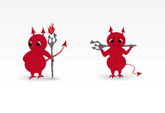 Devils. Nice and cute character - the Devil Royalty Free Stock Photos